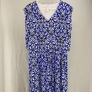 Chico's stretch geometric casual dress Size 12